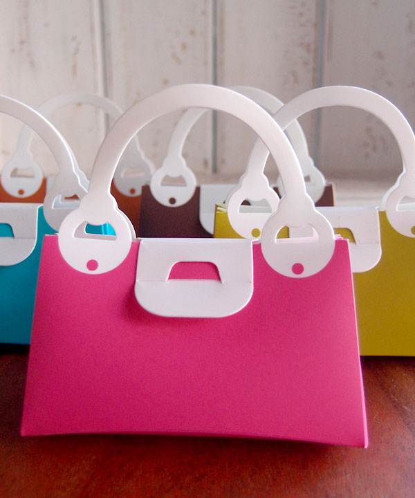 Two Tone Handbag Favor Boxes
