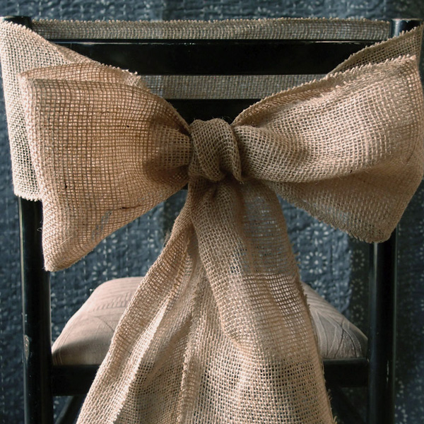 "Burlap Chair Sash - 7"" x 3Y 3 rolls minimum"