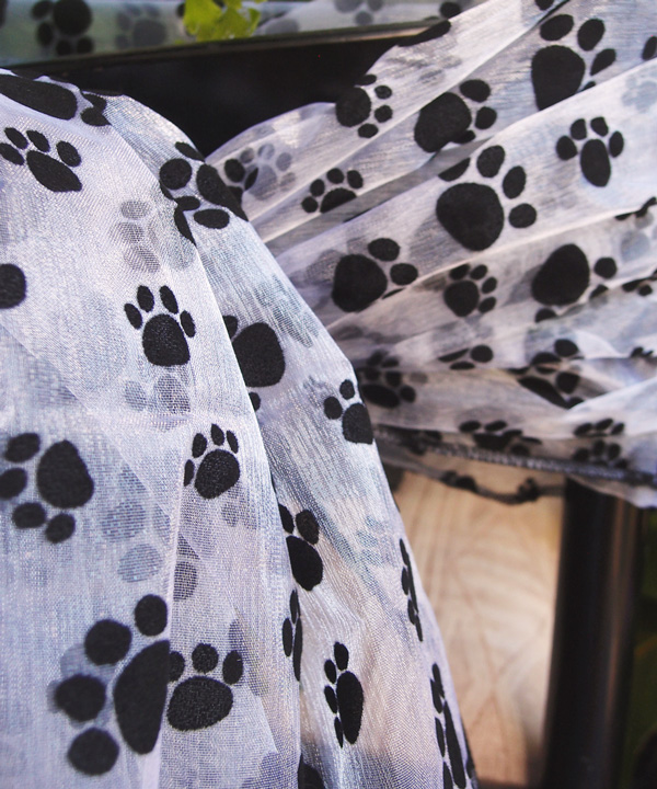 Paw Print Sheet - Sold Individually.