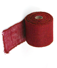 "Red Jute Burlap Ribbon - 4"" x 10Y Individually packed. 3 pcs minimum."