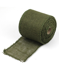 "Moss Green Jute Burlap Ribbon - 4"" x 10Y Individually packed. 3 pcs minimum."