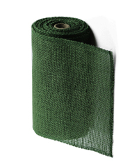 "Moss Green Jute Burlap Ribbon - 9"" x 10Y Individually packed. 3 pcs minimum."