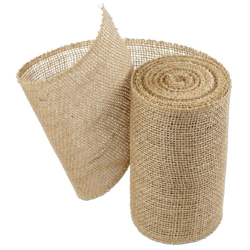 Natural Burlap Jute Ribbon 6""