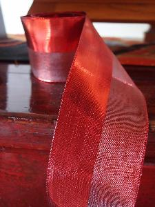 Metallic Satin and Sheer Wired Ribbon