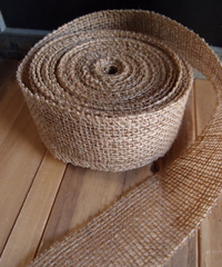 Natural Burlap Jute Ribbon 2""