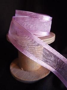 Lavender Sheer Ribbon with Satin Wired Edge