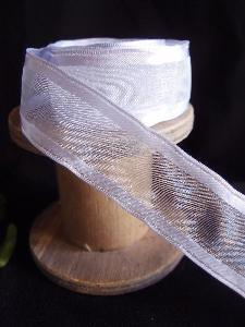 Iris Sheer Ribbon with Satin Wired Edge