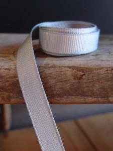 Silver Grosgrain Ribbon 3/8""