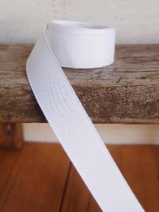White Grosgrain Ribbon 5/8""