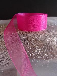 Fuchsia Sheer Ribbon with Monofilament Edge