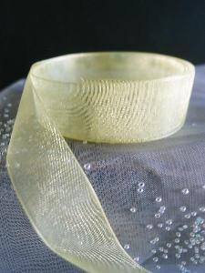 Yellow Sheer Ribbon with Monofilament Edge