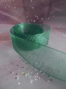 Hunter Green Sheer Ribbon with Monofilament Edge