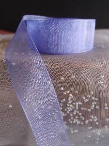 Delphinium Sheer Ribbon with Monofilament Edge