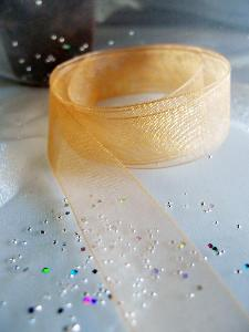 Dijon Sheer Ribbon with Monofilament Edge