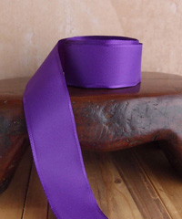 Purple Taffeta Ribbon with Wired Edge
