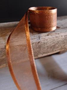 Copper Sheer Ribbon with Satin Edge