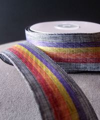 Vintage Cloth Striped Rainbow Ribbon