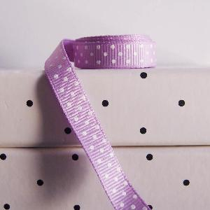 Swiss Dot Grosgrain Ribbon