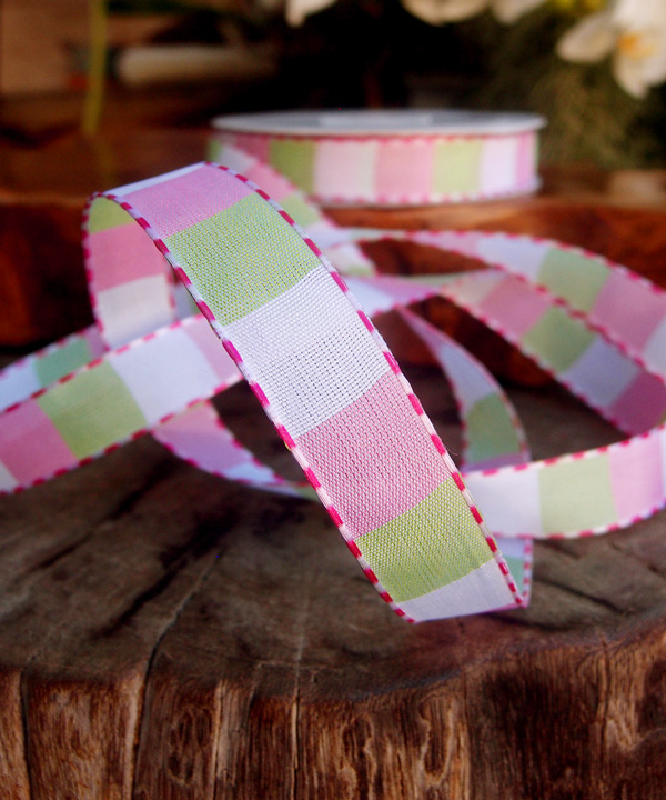Color Blocked Woven Ribbon