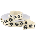 Paw Animal Print Ribbon - 3 rolls minimum