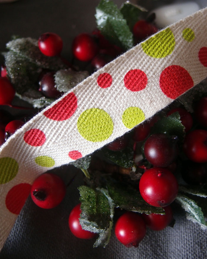 Polka Dot Print Ribbon - 3 rolls minimum