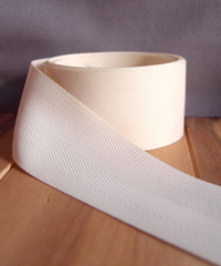 Ivory Herringbone Ribbon