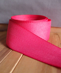 Shocking Pink Herringbone Ribbon