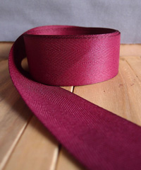 Burgundy Herringbone Ribbon