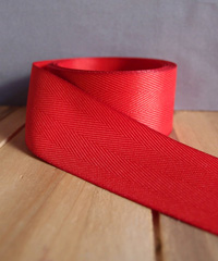 Red Herringbone Ribbon