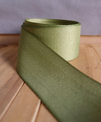 Moss Herringbone Ribbon