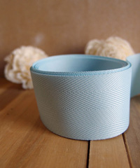 Light Blue Herringbone Ribbon