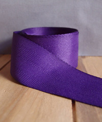 Purple Herringbone Ribbon