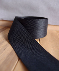 Black Herringbone Ribbon