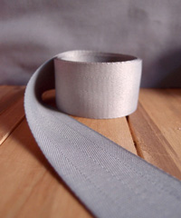 Silver Herringbone Ribbon
