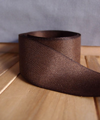 Chocolate Herringbone Ribbon
