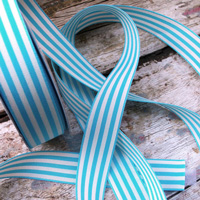 Light Blue Striped Ribbon