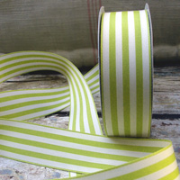 Green Striped Ribbon