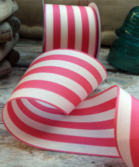 Coral Striped Ribbon