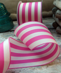 Hot Pink Striped Ribbon