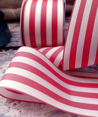 Raspberry Striped Ribbon