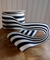 "Woven Black Striped Ribbon 2 1/2""  - 2 1/2"" x 10Y"