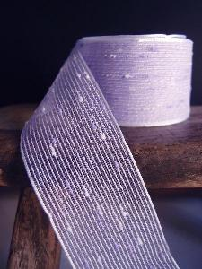 "Lavender Tufted Cotton Mesh Ribbon  1.5 x 25Y - 1.5"" x 25Y"