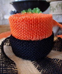 Orange Burlap Jute Ribbon