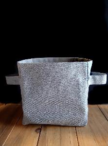 "Recycled Canvas Storage Basket 7 x7 - 7""W x 7""H x 5"""