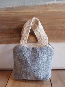 "Tiny Tote Zippered Pouch - 4"" x 3"""