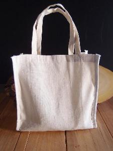 "Plain Cotton Bags - 7"" x 6"" x 2.75"""