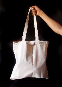 "Natural Canvas Flat Tote 15x15 - 15"" x 15"""