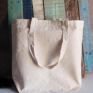 "Natural Canvas Tote 18x15 - 18""W x 15""H x 5½""D"