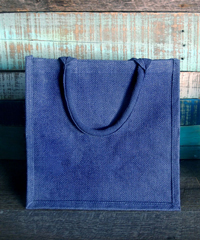 "Blue Burlap Euro Shopping Tote - 12"" x 12"" x 7.75"""