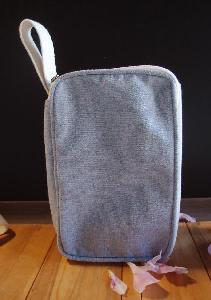 "Recycled Canvas Travel Kit Bag Dopp Kit - 8""W x 5.25"" x 3"" D"